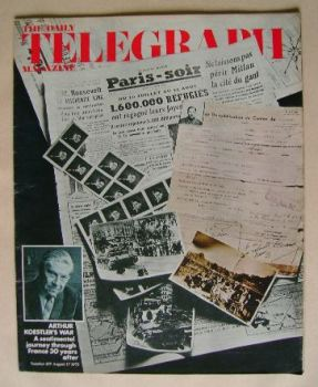 The Daily Telegraph magazine - Arthur Koestler's War cover (17 August 1973)