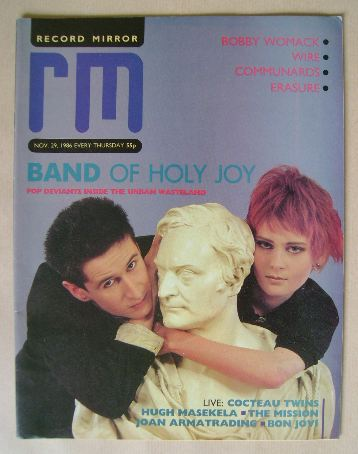 <!--1986-11-29-->Record Mirror magazine - 29 November 1986
