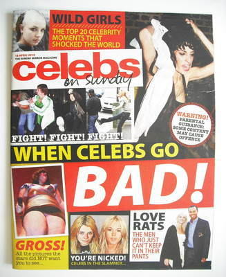 <!--2010-04-18-->Celebs magazine - When Celebs Go Bad cover (18 April 2010)