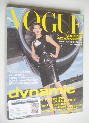 <!--1994-11-->British Vogue magazine - November 1994 - Linda Evangelista co