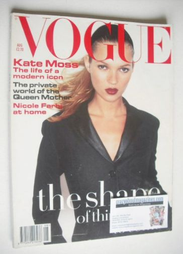 <!--1994-08-->British Vogue magazine - August 1994 - Kate Moss cover