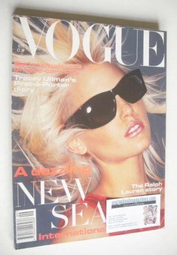 <!--1994-09-->British Vogue magazine - September 1994 - Nadja Auermann cove