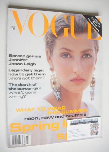 <!--1994-04-->British Vogue magazine - April 1994 - Tereza Maxova cover