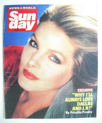 <!--1986-05-16-->Sunday magazine - 16 May 1986 - Priscilla Presley cover