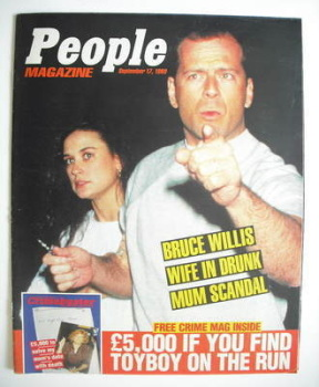 <!--1989-09-17-->People magazine - 17 September 1989 - Bruce Willis and Demi Moore cover