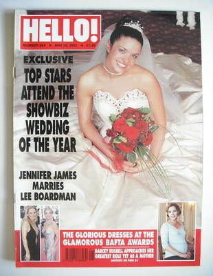 <!--2001-05-29-->Hello! magazine - Jennifer James cover (29 May 2001 - Issu