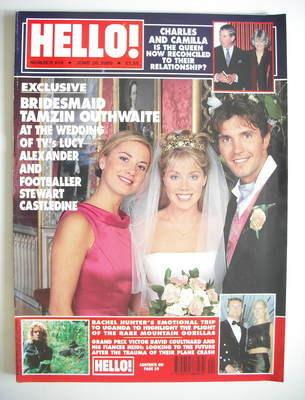 <!--2000-06-20-->Hello! magazine - Tamzin Outhwaite, Lucy Alexander and Ste