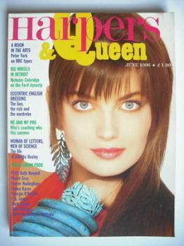 British Harpers & Queen magazine - June 1986 - Paulina Porizkova cover