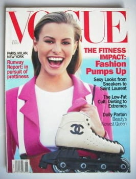 US Vogue magazine - January 1994 - Niki Taylor cover