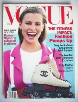 US Vogue magazine - January 1994 - Niki Taylor cover