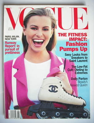 <!--1994-01-->US Vogue magazine - January 1994 - Niki Taylor cover