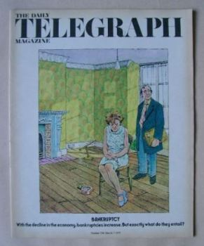 The Daily Telegraph magazine - Bankruptcy cover (7 March 1975)
