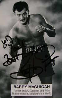 Barry McGuigan autograph