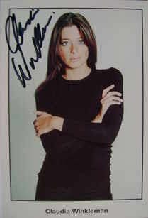 Claudia Winkleman autograph (hand-signed photograph)