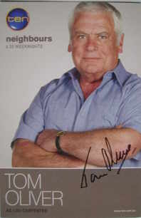 Tom Oliver autograph (Neighbours actor)
