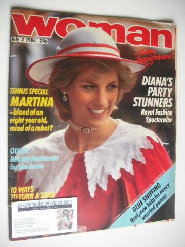 <!--1983-07-02-->Woman magazine - Princess Diana cover (2 July 1983)