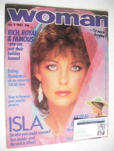 <!--1983-07-09-->Woman magazine - Isla St Clair cover (9 July 1983)