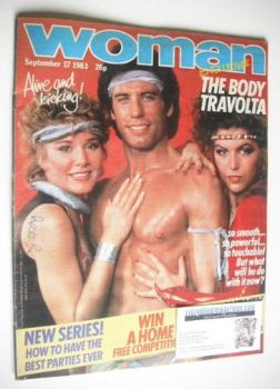 Woman magazine - John Travolta cover (17 September 1983)