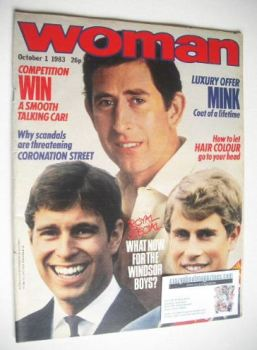 Woman magazine - The Three Princes cover (1 October 1983)