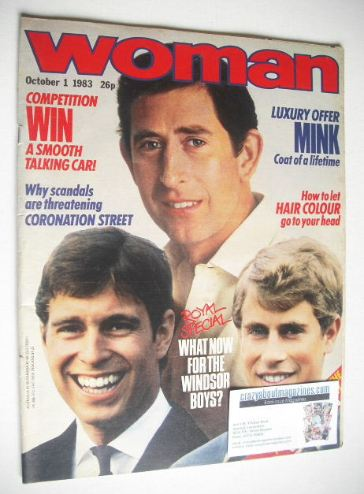 <!--1983-10-01-->Woman magazine - The Three Princes cover (1 October 1983)