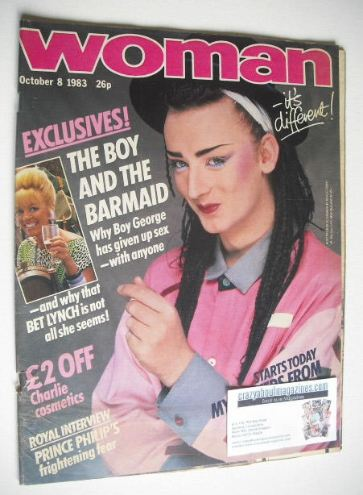 <!--1983-10-08-->Woman magazine - Boy George cover (8 October 1983)