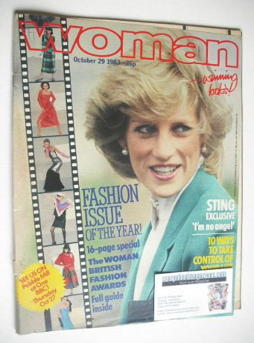 <!--1983-10-29-->Woman magazine - Princess Diana cover (29 October 1983)