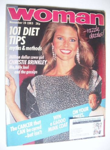 <!--1983-11-19-->Woman magazine - Christie Brinkley cover (19 November 1983