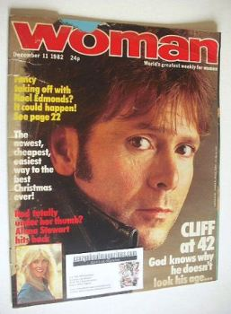 Woman magazine - Cliff Richard cover (11 December 1982)