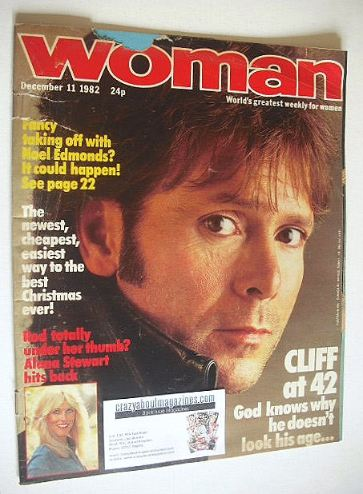 <!--1982-12-11-->Woman magazine - Cliff Richard cover (11 December 1982)