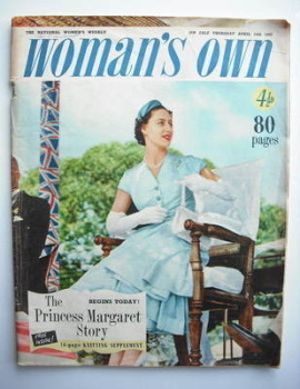 <!--1955-04-14-->Woman's Own magazine - 14 April 1955 - Princess Margaret cover