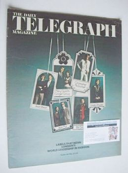 The Daily Telegraph magazine - London Labels cover (25 May 1973)