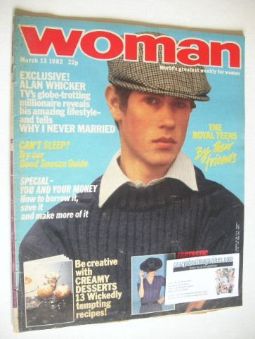 <!--1982-03-13-->Woman magazine - Prince Edward cover (13 March 1982)