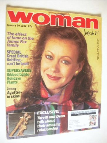 <!--1982-01-30-->Woman magazine - Jenny Agutter cover (30 January 1982)