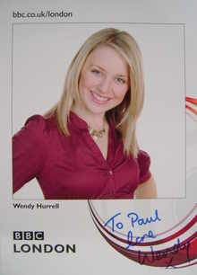 Wendy Hurrell autograph