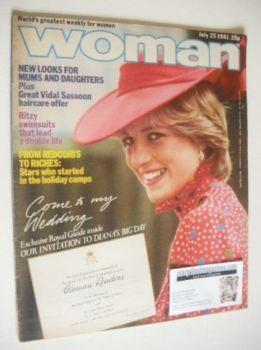 Woman magazine - Princess Diana cover (25 July 1981)