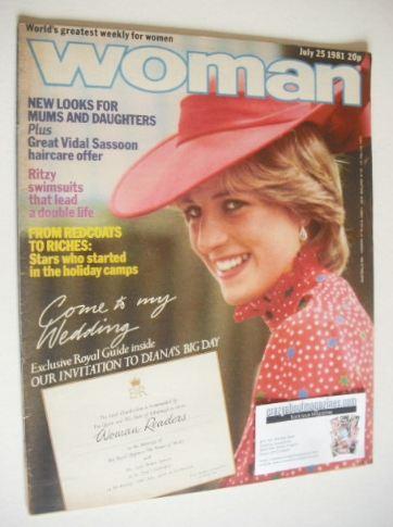 <!--1981-07-25-->Woman magazine - Princess Diana cover (25 July 1981)