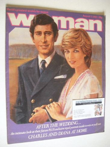 <!--1981-08-01-->Woman magazine - Prince Charles and Princess Diana cover (