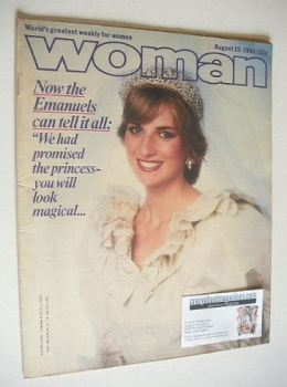 Woman magazine - Princess Diana cover (15 August 1981)