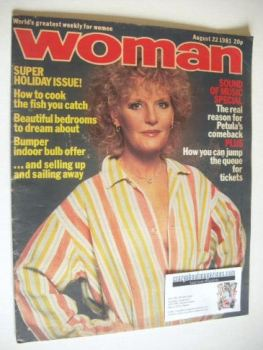 Woman magazine - Petula Clark cover (22 August 1981)