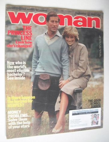 <!--1981-09-12-->Woman magazine - Prince Charles and Princess Diana cover (