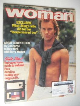 Woman magazine - Sting cover (26 September 1981)