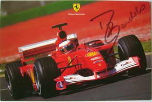 Rubens Barrichello autograph
