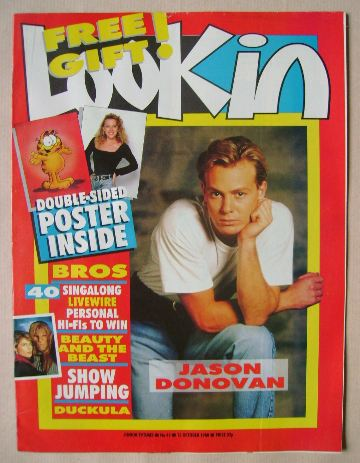 <!--1988-10-15-->Look In magazine - Jason Donovan cover (15 October 1988)