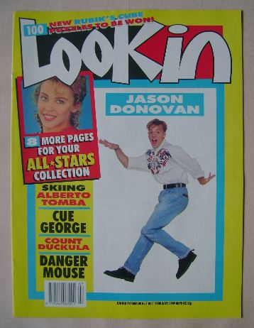 <!--1989-02-11-->Look In magazine - Jason Donovan cover (11 February 1989)