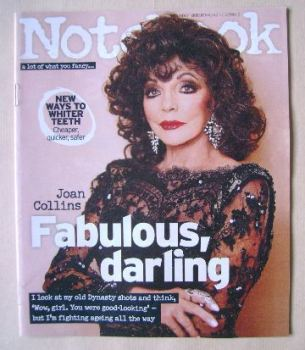 Notebook magazine - Joan Collins cover (30 August 2015)