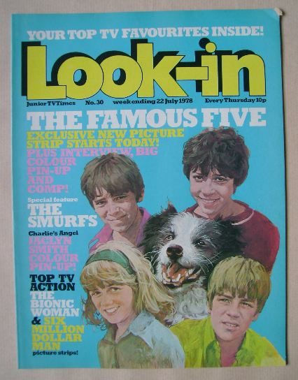 <!--1978-07-22-->Look In magazine - The Famous Five cover (22 July 1978)