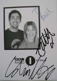 Edith Bowman and Colin Murray autograph