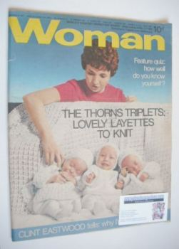 Woman magazine - The Thorns Triplets cover (12 April 1969)