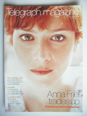 <!--1999-06-12-->Telegraph magazine - Anna Friel cover (12 June 1999)