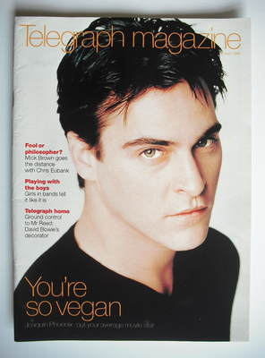 <!--1999-04-17-->Telegraph magazine - Joaquin Phoenix cover (17 April 1999)
